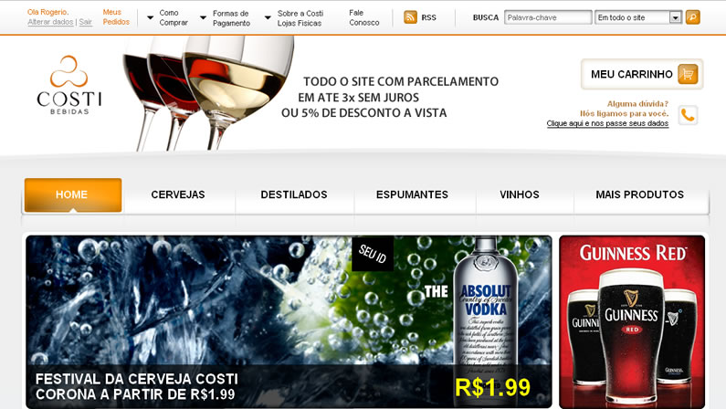 Case de E-commerce: Costi Bebidas