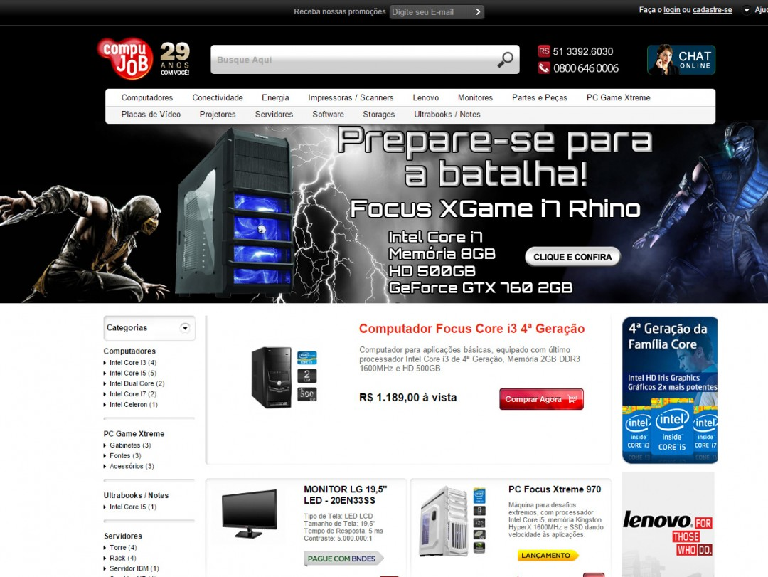 Loja Virtual Compujob