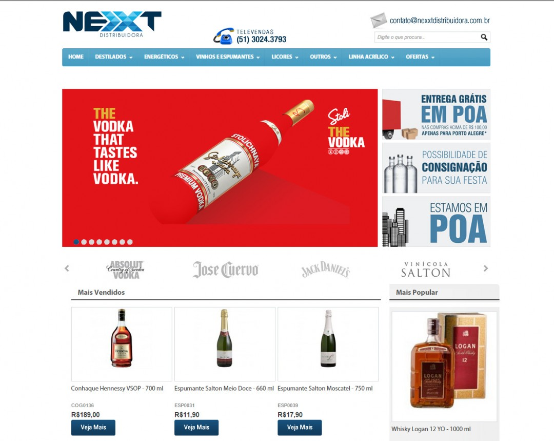 Loja Virtual Nexxt Distribuidora
