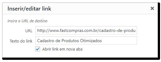 Exemplo de como fazer um link abrir em uma nova guia do navegador.